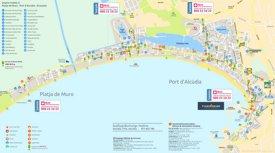 Port d'Alcúdia y Playa de Muro Mapa