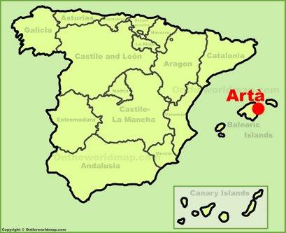 Artà Location Map