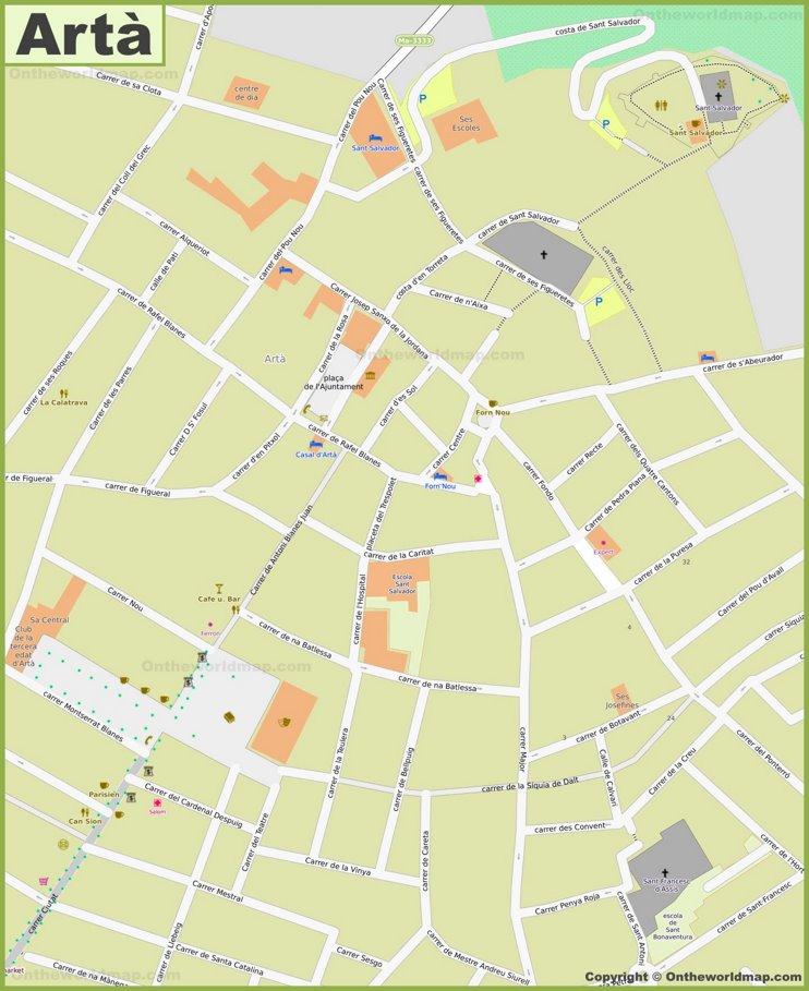 Artà  - Centro de la ciudad Mapa