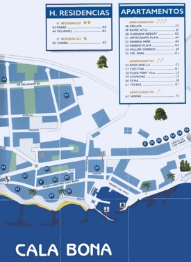 Cala Bona tourist map
