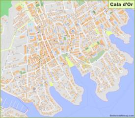 Cala d'Or Hotel Map