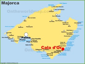 Cala d'Or location on the Majorca map