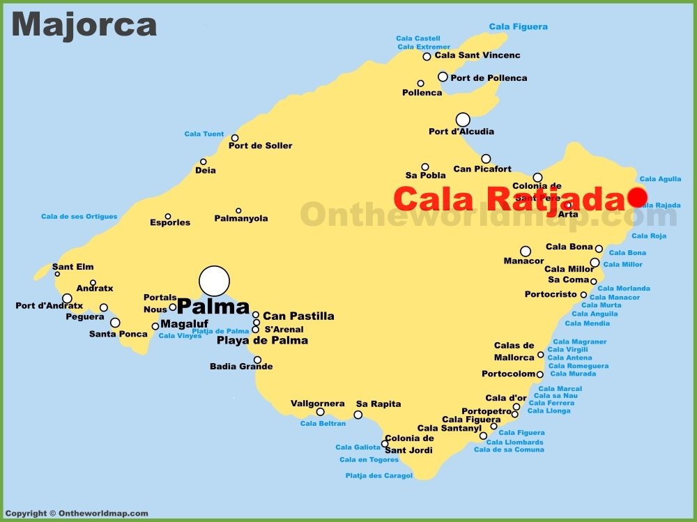 Cala Ratjada location on the Majorca map