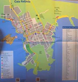 Cala Ratjada Tourist Map