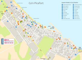 Can Picafort hotel mapa