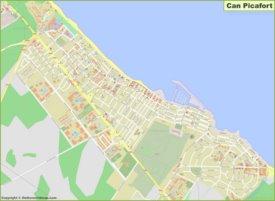 Mapa detallado de Can Picafort