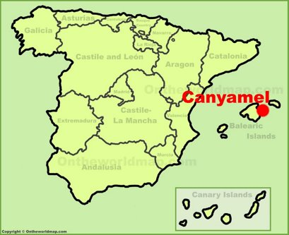 Canyamel Location Map