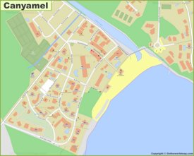 Detailed map of Canyamel