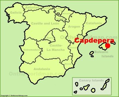 Capdepera Location Map