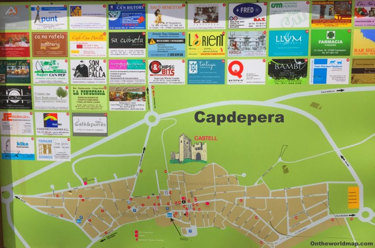 Capdepera Tourist Attractions Map