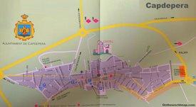 Capdepera Tourist Map
