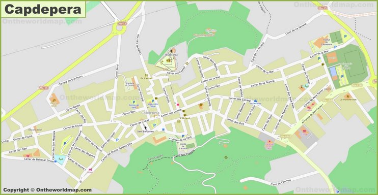 Detailed map of Capdepera