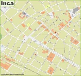 Inca  - Centro de la ciudad Mapa