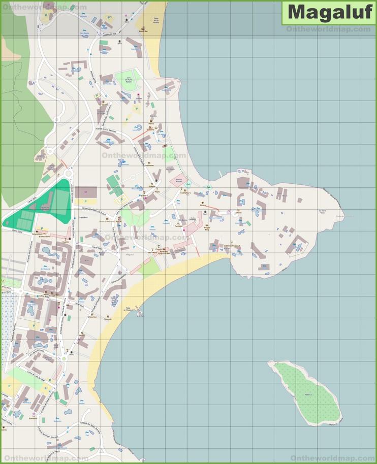 Gran mapa detallado de Magaluf