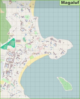 Large detailed map of Magaluf