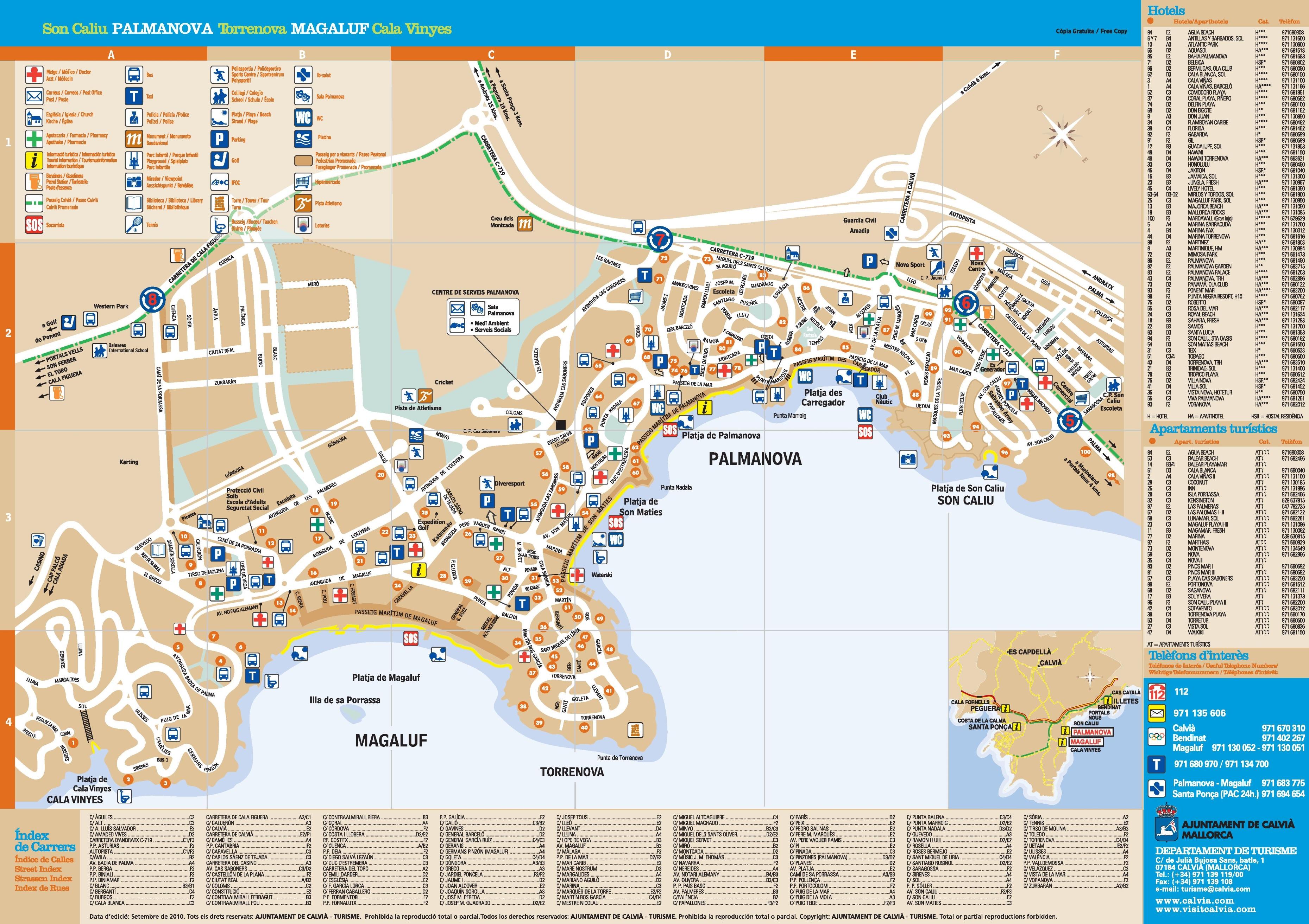 Map Of Magaluf Magaluf and Palma Nova hotel map