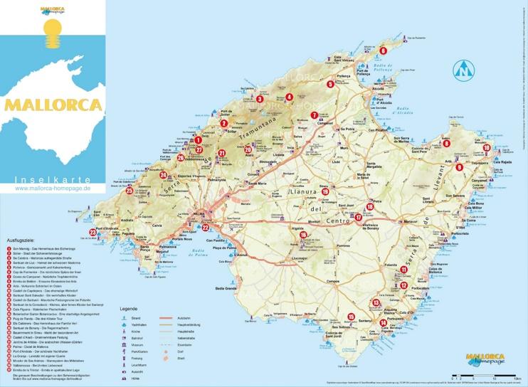 Majorca beach map