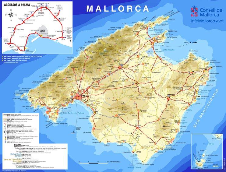 Majorca tourist map