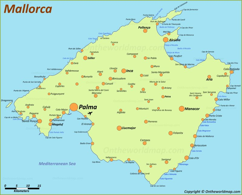 Google Earth Map Of Spain.Majorca Maps Balearic Islands Spain Map Of Majorca Mallorca