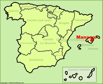Manacor Location Map