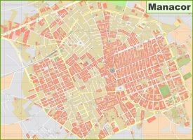 Manacor tourist map