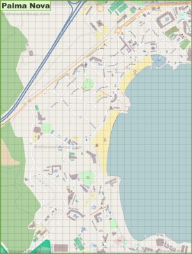 Large detailed map of Palma Nova