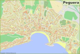 Detailed map of Peguera