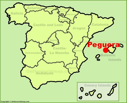 Peguera Location Map
