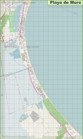 Large detailed map of Playa de Muro