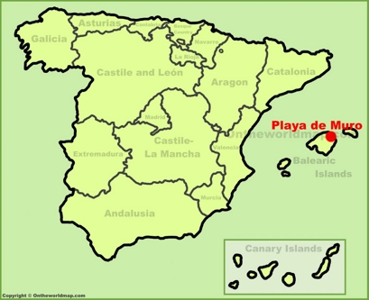 Playa de Muro Location Map
