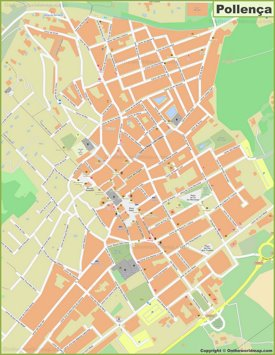 Mapa detallado de Pollensa