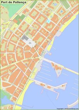 Mapa detallado de Port de Pollensa