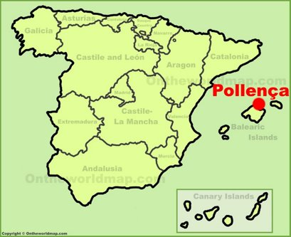 Pollensa Localización Mapa