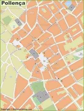 Pollensa  - Centro de la ciudad Mapa