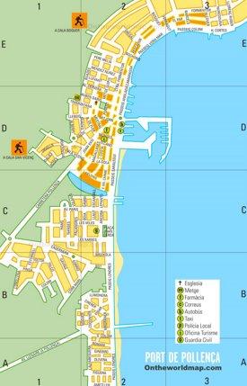 Port de Pollensa Mapa Turístico