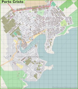 Large detailed map of Porto Cristo