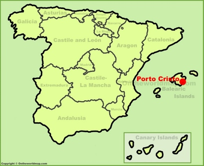 Porto Cristo Location Map