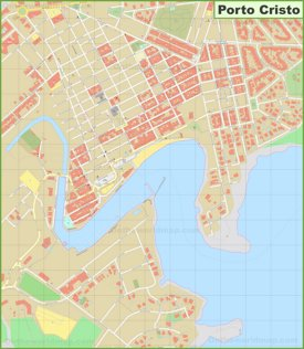Porto Cristo sightseeing map