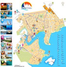 Porto Cristo Atracciones Turísticas Mapa
