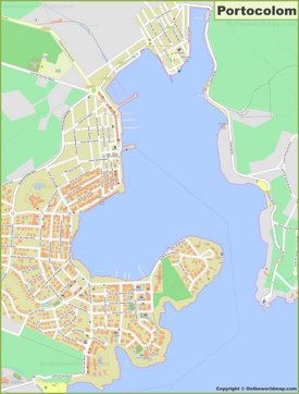 Detailed map of Portocolom