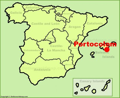 Portocolom Location Map
