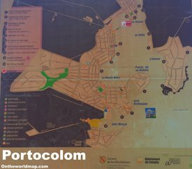 Portocolom Tourist Attractions Map