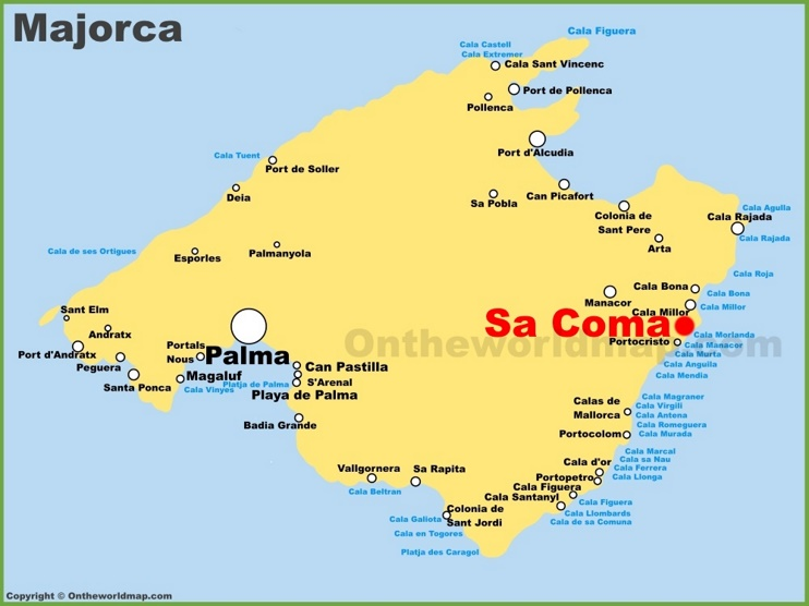 Sa Coma Maps Majorca Spain Maps of Sa Coma