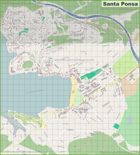 Large detailed map of Santa Ponsa