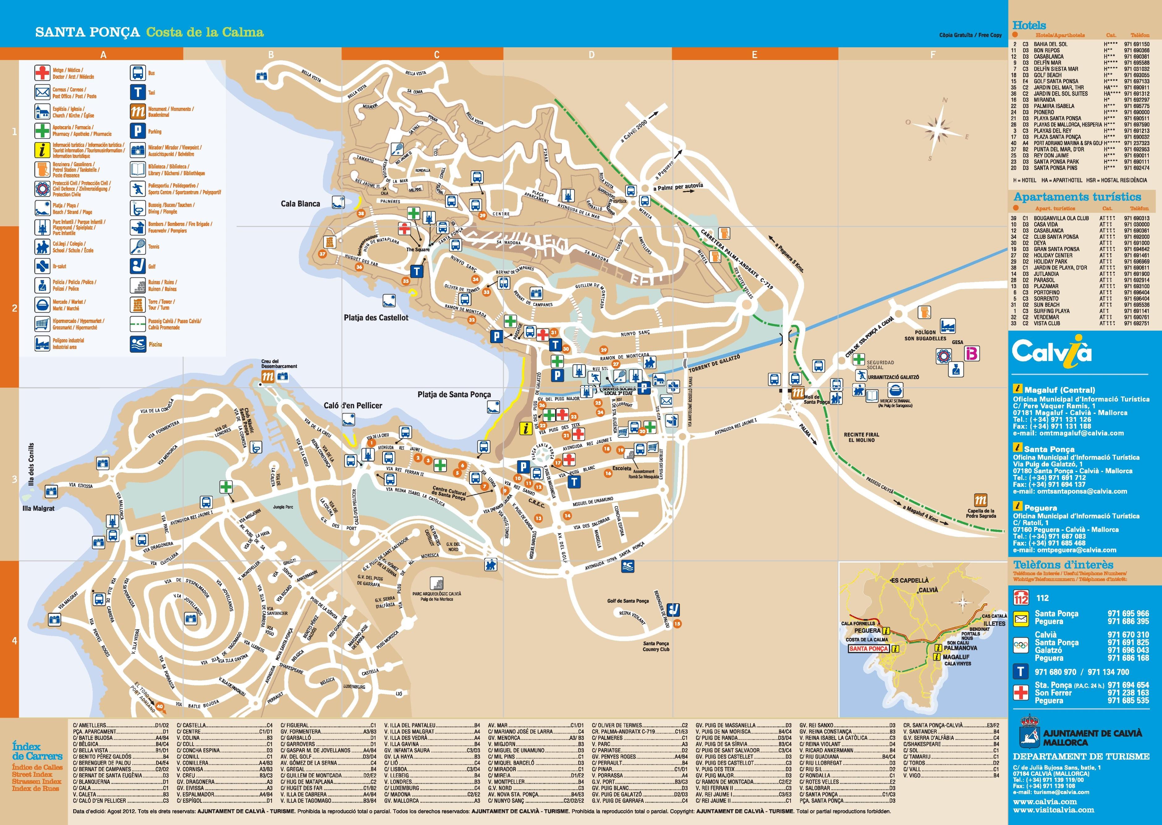 Santa Ponsa Map Santa Ponsa tourist map Santa Ponsa Map