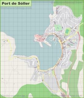 Map of Port de Soller