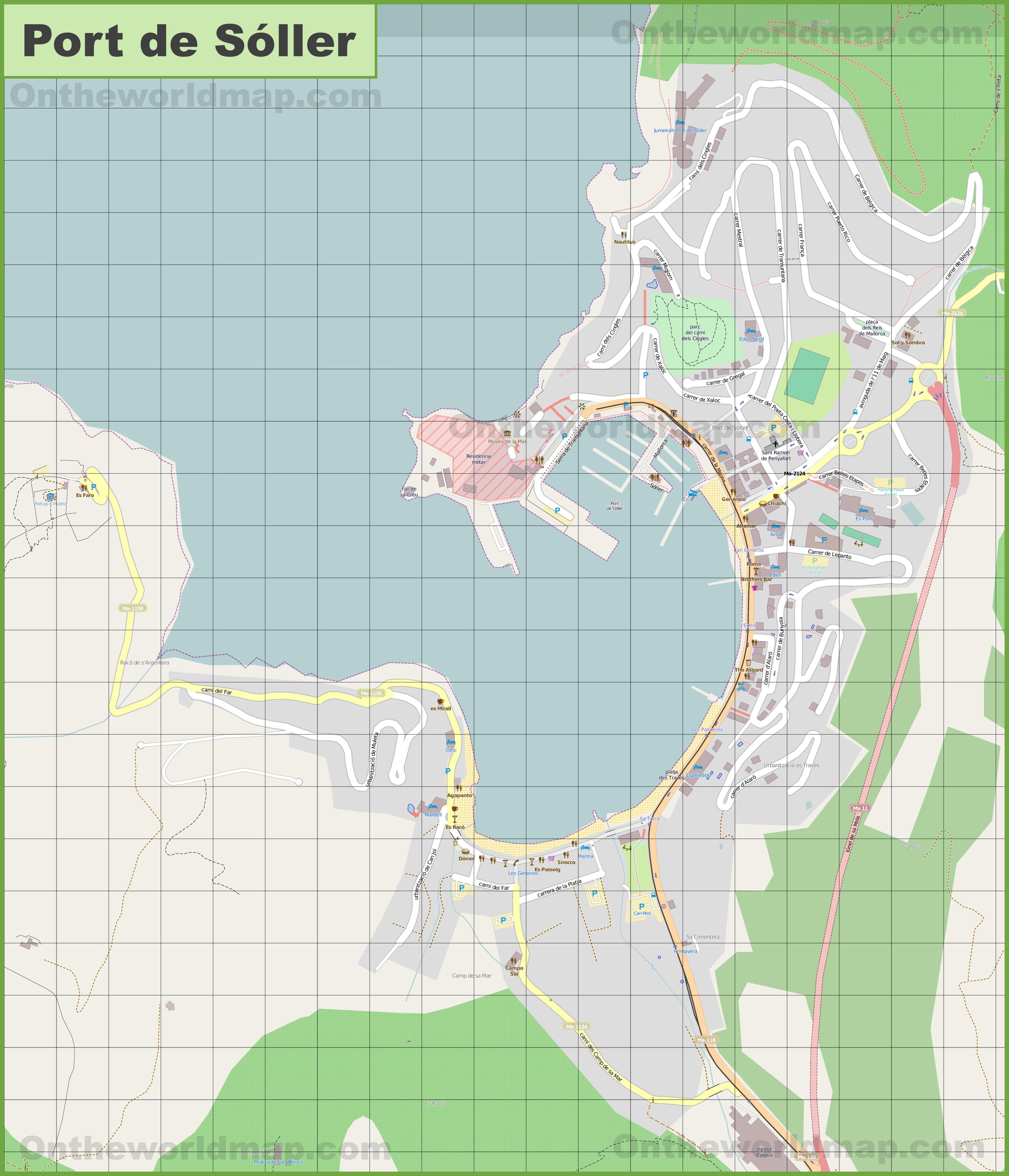Soller Maps Majorca Spain Maps of Soller