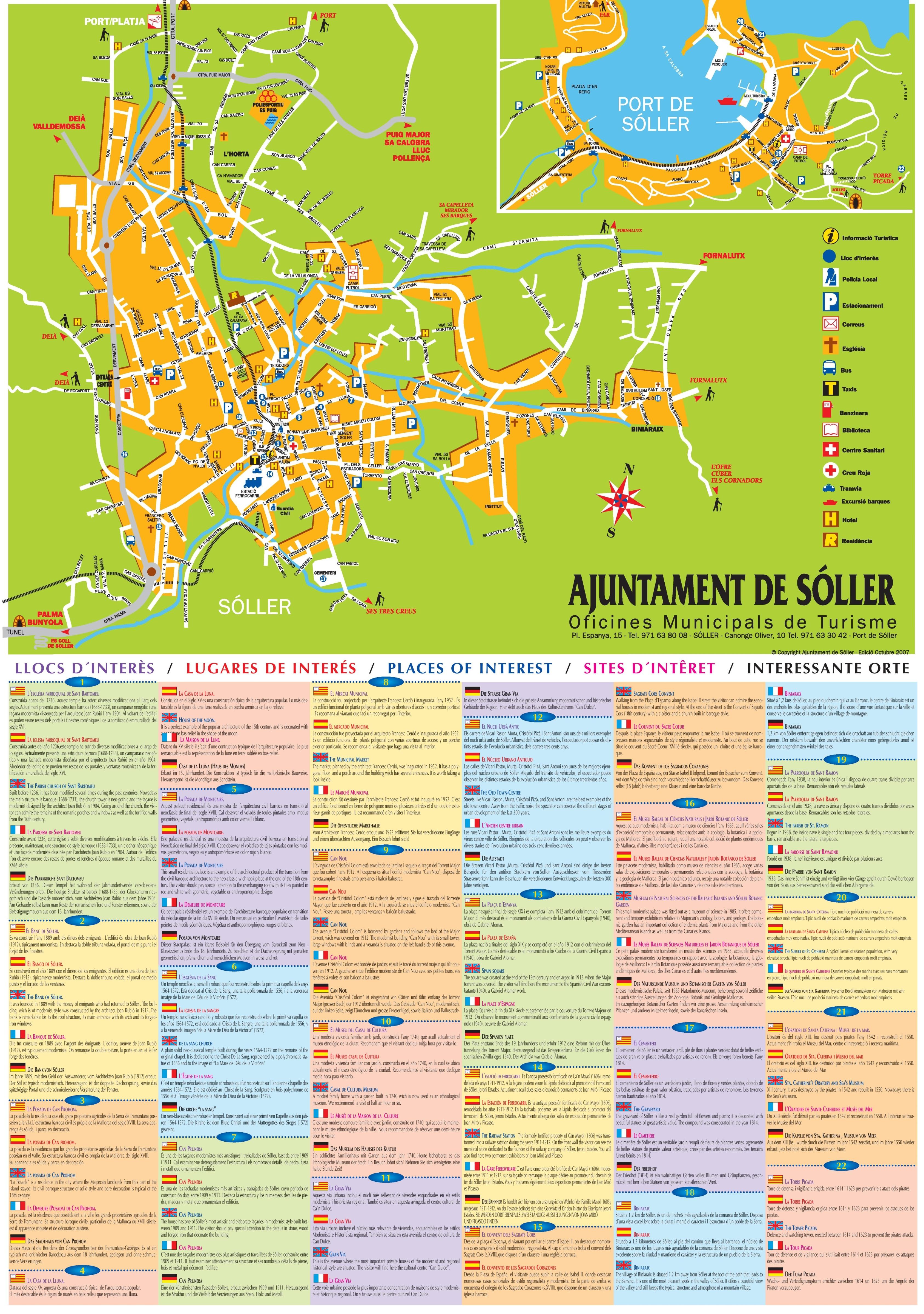 Soller tourist map