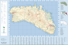 Large detailed map of Minorca