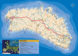 Minorca resorts map